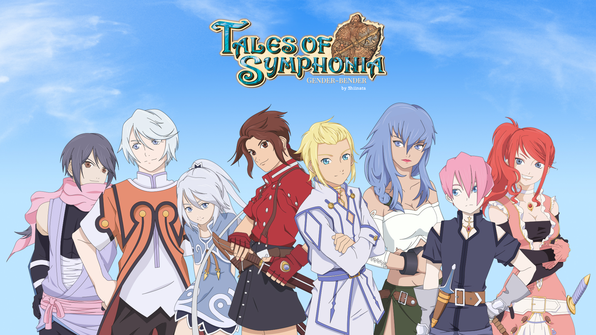 Tales Of Symphonia Gender Bender By Cupcakeamande On Deviantart