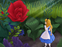 Redesigned scene - Alice in wonderland