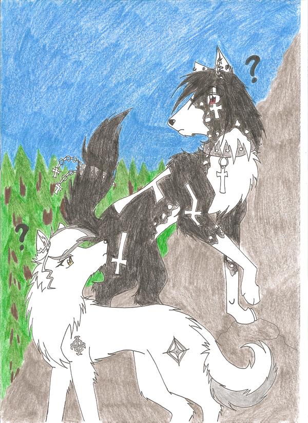 Koori and Cross, together? by Featherwolf-Pluma