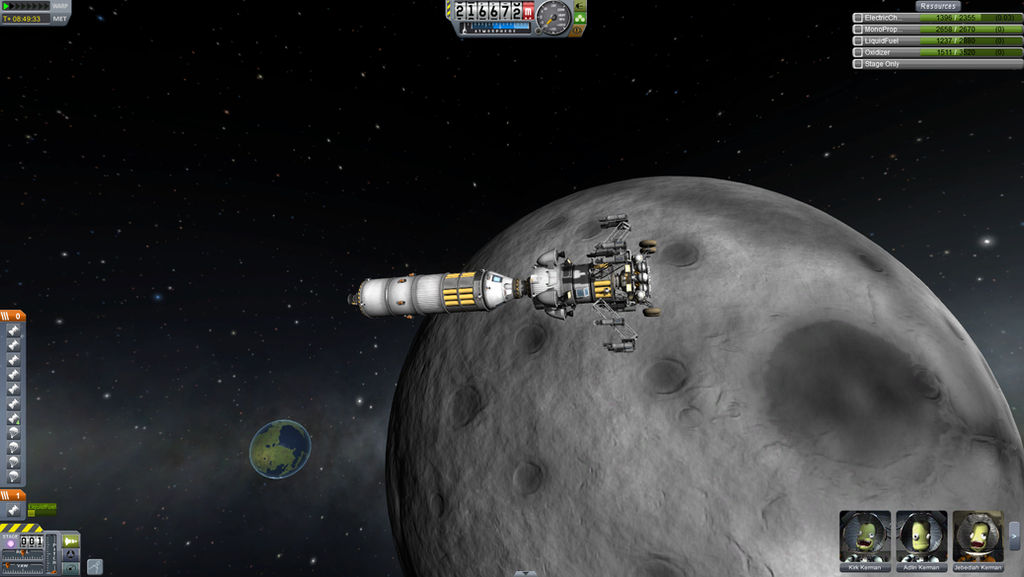 KSP: Orbiting the Mun by fusiondax on DeviantArt