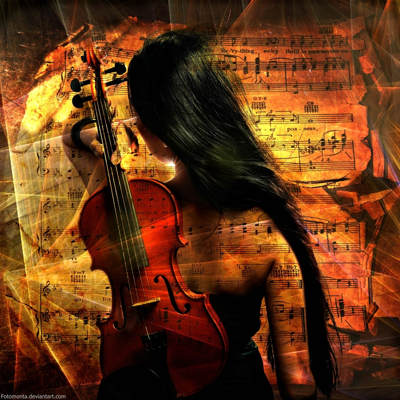 Girl With Violin by Fotomonta on DeviantArt