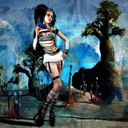 Cyber Girl II by Fotomonta