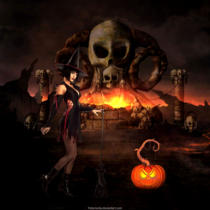 Halloween Scene by Fotomonta