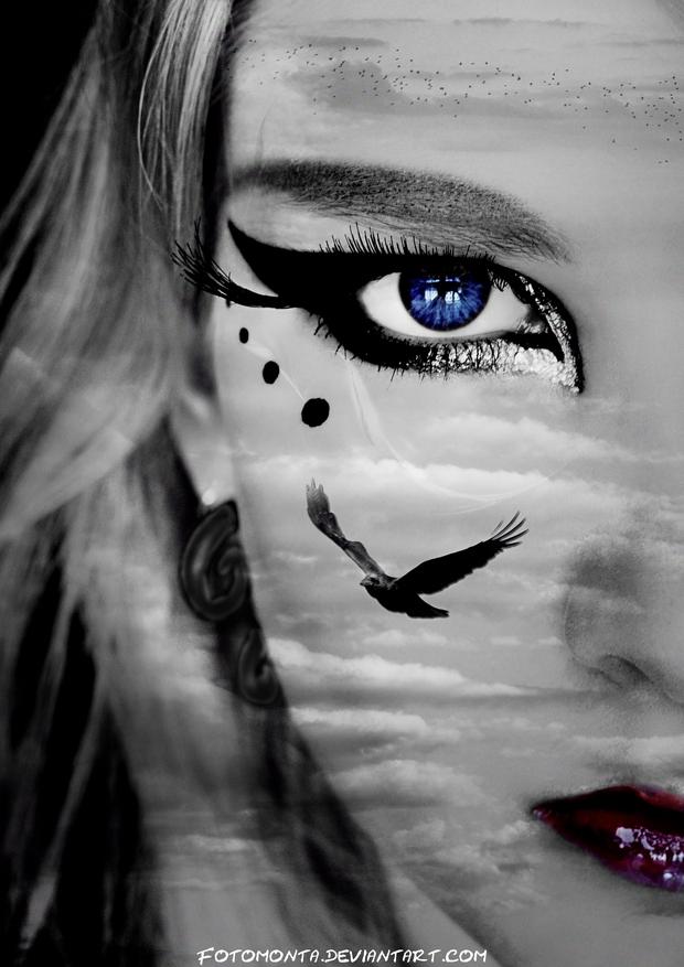 Blue Eye In The Sky by Fotomonta
