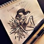 Inktober Day8: Frail by Nepluz