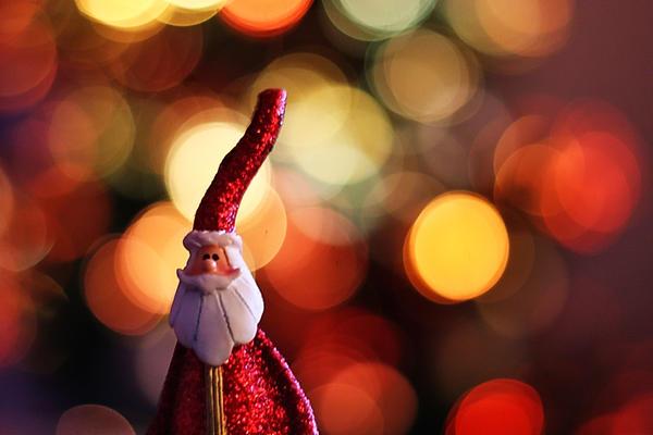 Christmas Santa Bokeh by Kounelli1