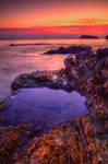 Blue rockpool