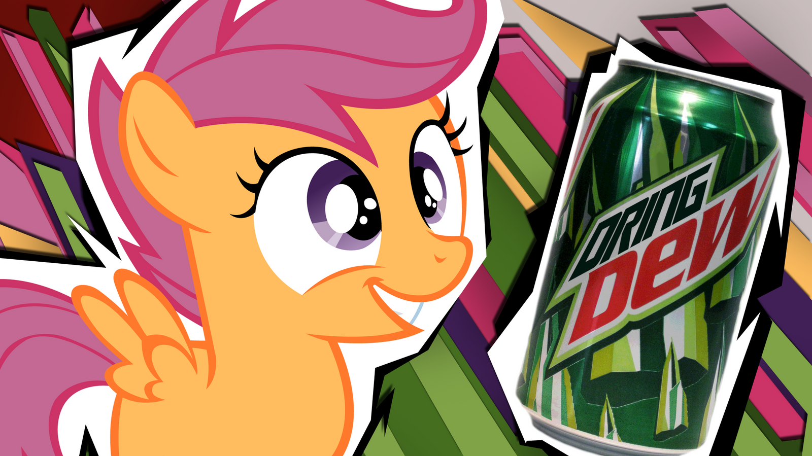 What Do Ponies Drink? - Scootaloo by 4Suit