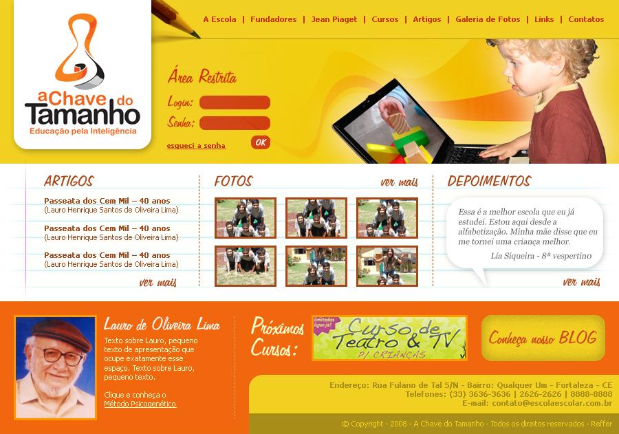 3e47c60eb Site Escola A Chave do Tamanho by liasiqueira on DeviantArt