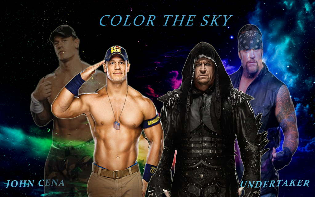 wwe undertaker and john cena color the sky by. Black Bedroom Furniture Sets. Home Design Ideas