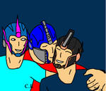 Optimus and Arcee with their Girl