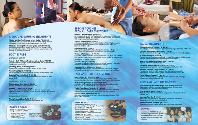 Tri Fold Spa Services Menu By Fjarla ...