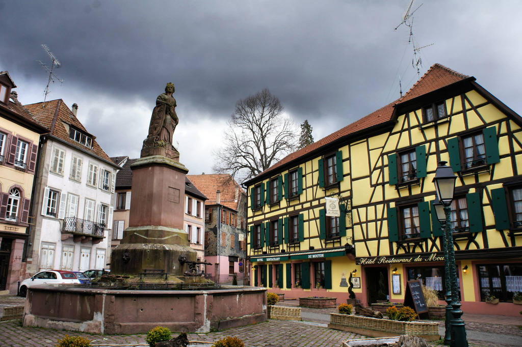 lovely atmosphere on an early spring day in Alsace by trastamara