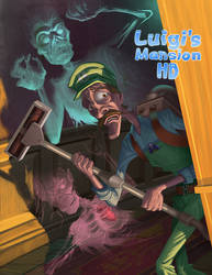 Luigi's Mansion HD by McGillustrator