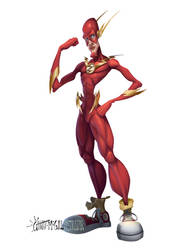 Flash - The fastest man alive! by McGillustrator
