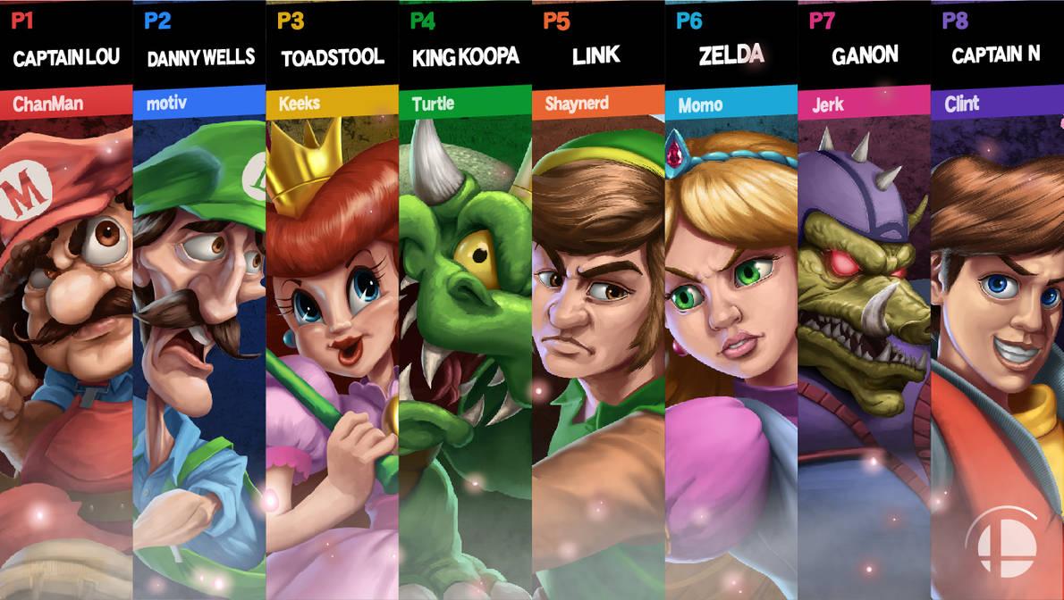 Super Smash Bros Ultimate - Dream Match by McGillustrator