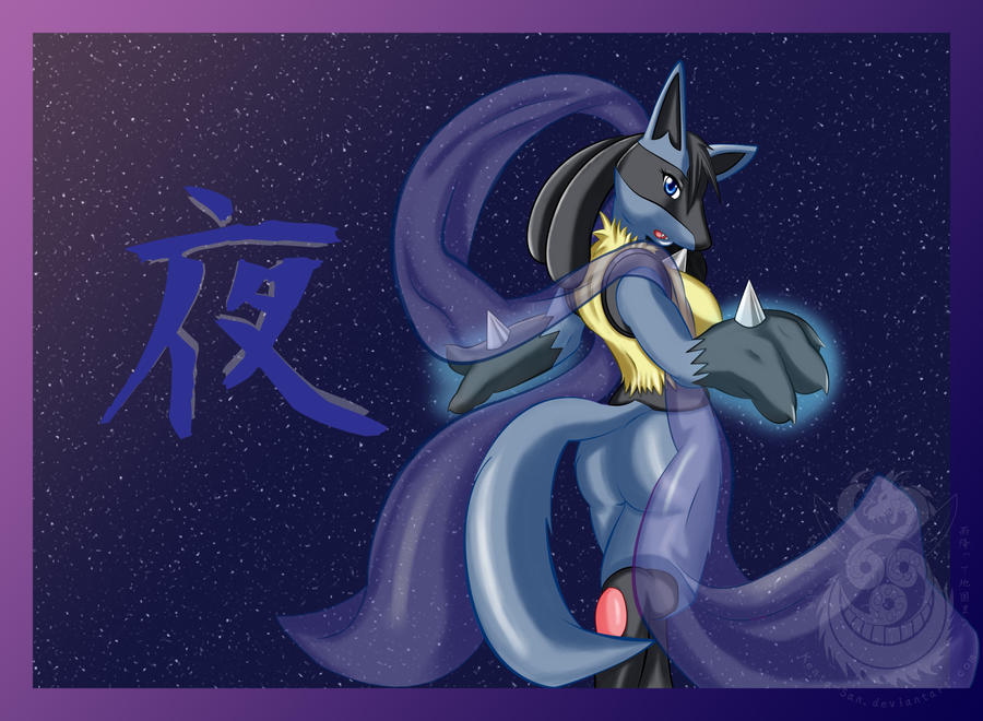 .:Yoru the Lucario:. by Kenta-San on DeviantArt
