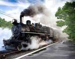 Steam Train by AliaChek