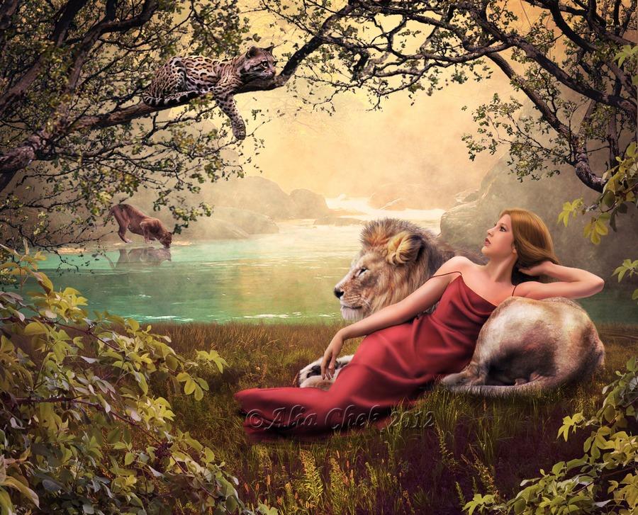 Queen of Beasts by AliaChek