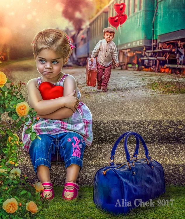 Girl Waiting by AliaChek