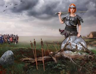 Warrior Woman by AliaChek