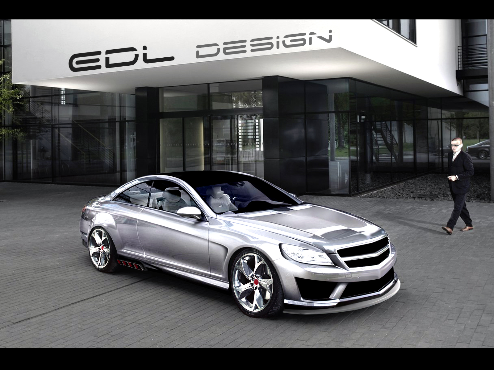 Chrome mercedes benz cl63 amg by edldesign on deviantart for Mercedes benz chrome
