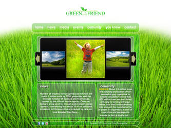 Green is my Friend website by EDLdesign