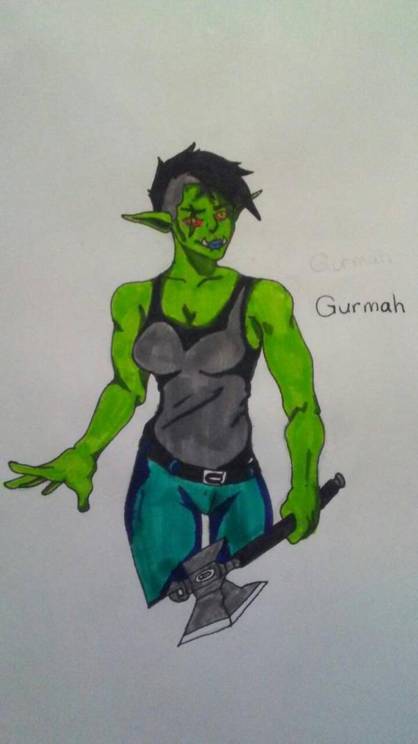 Gurmah (Art trade) by StripesDragonBorn