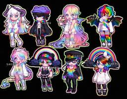 Rainbow Gaia Adoptables (4/8 OPENED)