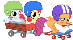 Cutie Mark Crusaders on a Mission by GoblinEngineer