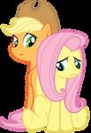 Applejack and Fluttershy: Dragonshy