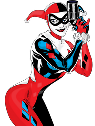 Harley Quinn Vector - Blurred Version