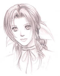 A Portrait of Aerith by Seii-Monogatari