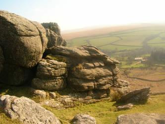 Dartmoor tor by isawien-ilmen