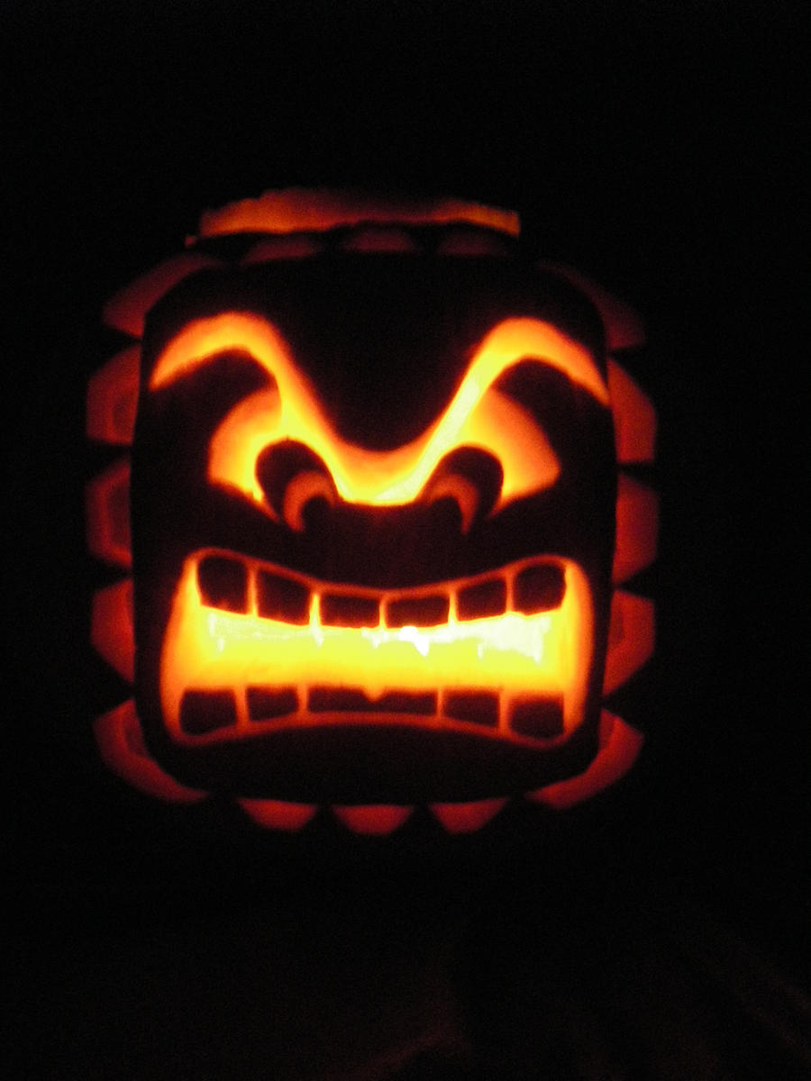 Thwomp Pumpkin Carving by Dead-Beliefs