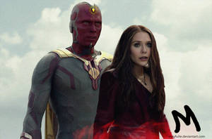 Vision and Scarlet Witch by mayfuite