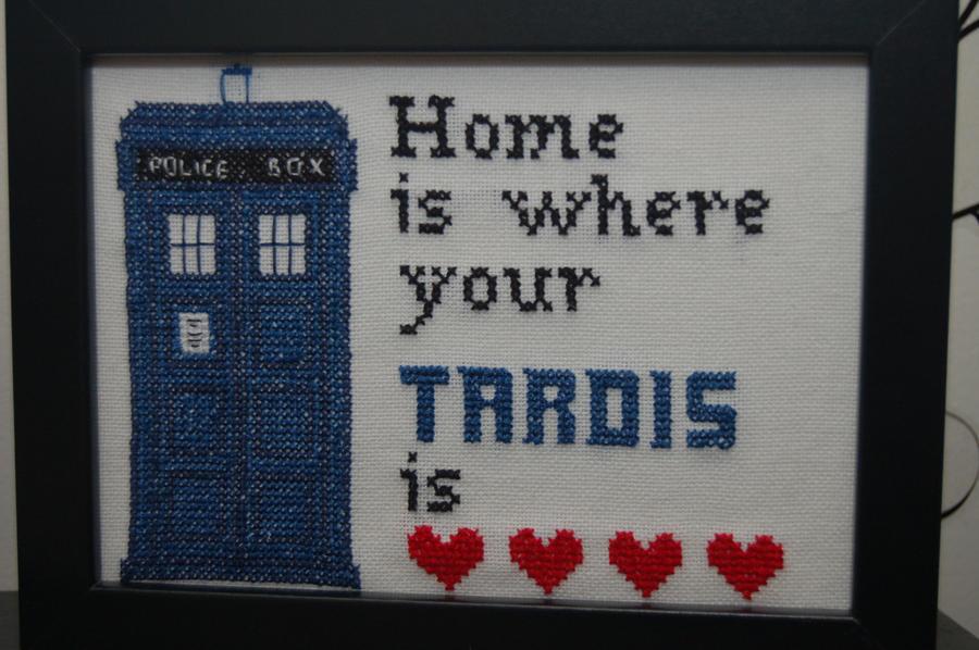 Tardis Cross Stitch By Craftymccraftersons On Deviantart
