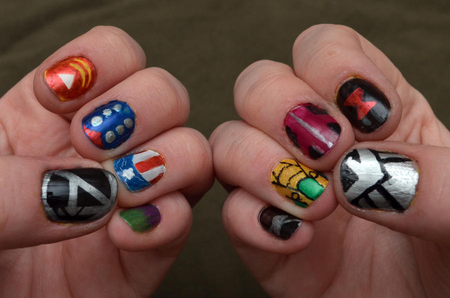 Avengers Nail Art By Craftymccraftersons On Deviantart