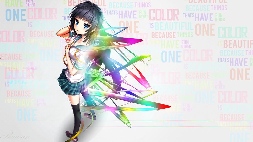 Rainbow Anime Wallpaper By Rausan