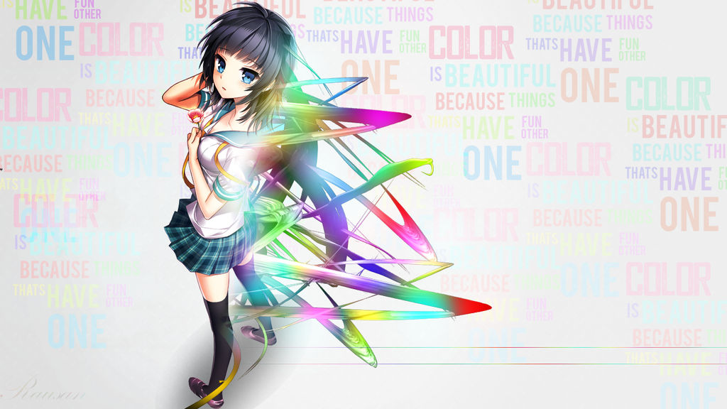 Rainbow Anime Wallpaper By Rausan On Deviantart