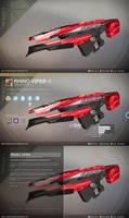 Trace Rifle Concept: Rhino Viper by BanditNation by DestinyWarlock