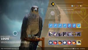 D2 CONCEPT: Louis the Falcon as a Vendor by DestinyWarlock