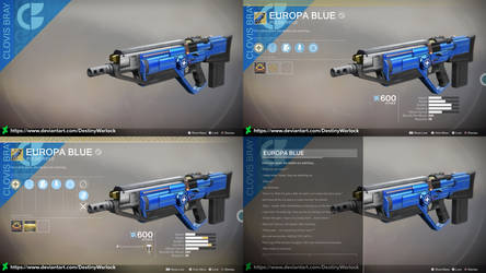 D2 Concept: Europa Blue Exotic Pulse Rifle by DestinyWarlock