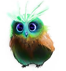 Bloom Bright Owl by Mechalight