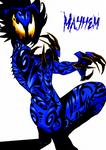 Mayhem (flame eyed female symbiote) by Mechalight