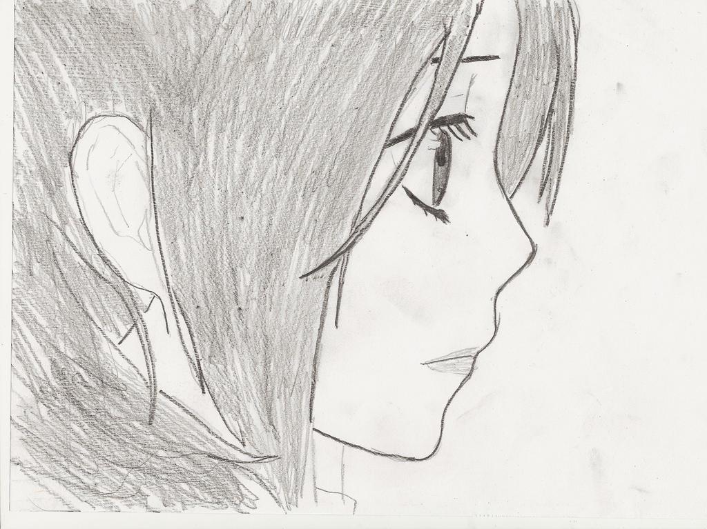 Line Art Anime : Anime girl side profile by sev on deviantart