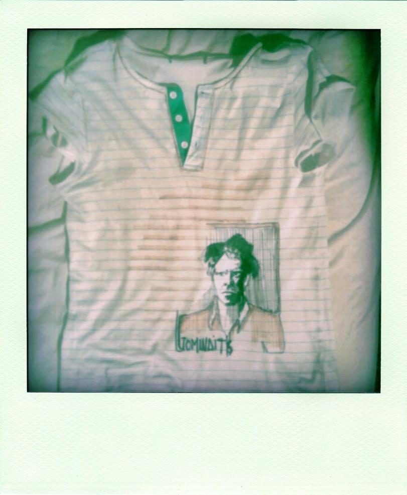 my tom waits t- shirt by mervekahraman