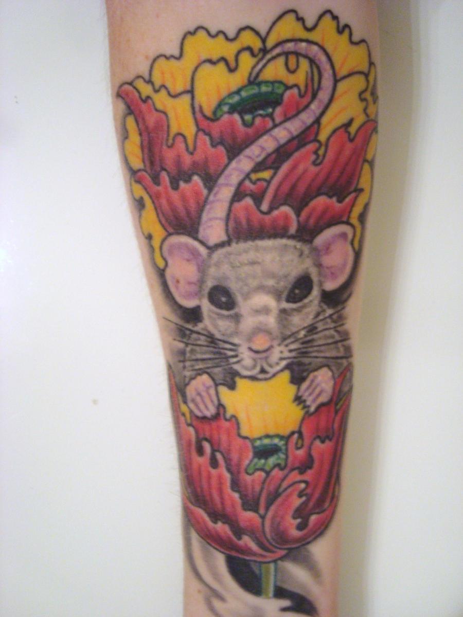 tattoo rat. Black Bedroom Furniture Sets. Home Design Ideas