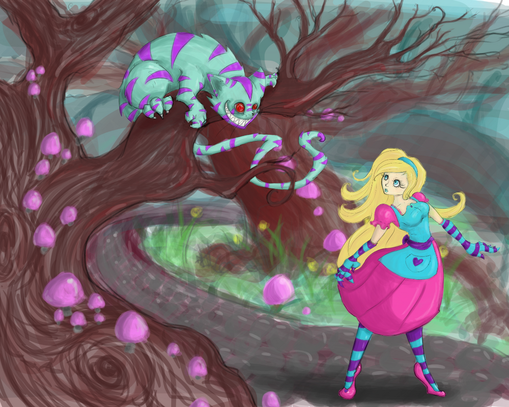 Alice and the Cat by MercysWrath