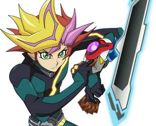 Yu-Gi-Oh! VRAINS Fujiki Yusaku/Playmaker (Render) by RaidenGTX